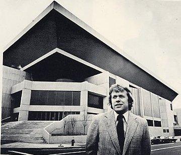 Howard Baldwin and the new Hartford Civic Center, 1975